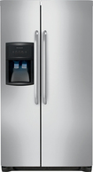 Frigidaire - 226 Cu Ft Side-by-Side Refrigerator with Through-the-Door Ice and Water - Stainless-Steel