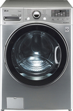 LG - 40 Cu Ft 12-Cycle High-Efficiency Steam Front-Loading Washer - Graphite Steel