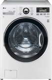 LG - 40 Cu Ft 12-Cycle High-Efficiency Steam Front-Loading Washer - White