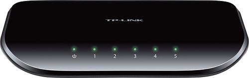 TP-Link - 5-Port 10/100/1000 Mbps Gigabit Ethernet Switch - Black