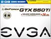 EVGA - GeForce GTX 550 Ti 2GB GDDR5 PCI Express 2.0 Graphics Card