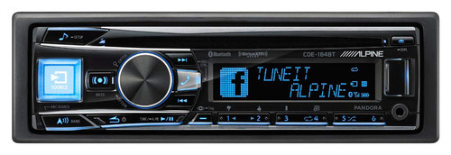 Alpine - CD - Built-in Bluetooth - Apple® iPod®-/Satellite Radio-Ready - In-Dash Receiver - Black