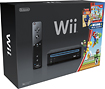 Nintendo - Nintendo Wii Console (Black) with New Super Mario Bros Wii Game and Music CD