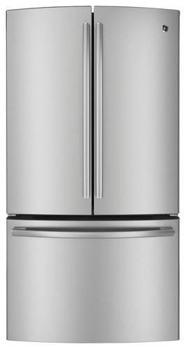 GE - Profile Series 23.1 Cu. Ft. French Door Refrigerator - Stainless Steel (Silver)
