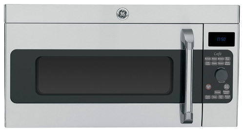 GE - Café Series 1.7 Cu. Ft. Over-the-Range Microwave - Stainless Steel (Silver)