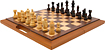 Trademark Games - Deluxe Wooden Chess, Backgammon and Checker Set