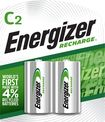 Buy Energizer NiMH Rechargeable Batteries C (2-Pack)