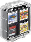 Power A - 12-Game Clear Case for Nintendo DS, DS Lite, DSi, DSi XL and 3DS Game Cards - Pink, Teal and Black