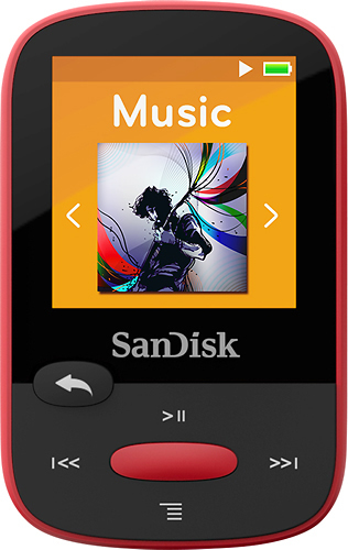 SanDisk - Clip Sport 4GB* MP3 Player - Red