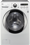 LG - SteamWasher 36 Cu Ft 9-Cycle High-Efficiency Steam Front-Loading Washer - White