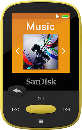 SanDisk - Clip Sport 4GB* MP3 Player - Yellow
