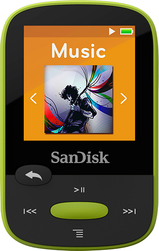 SanDisk - Clip Sport 8GB* MP3 Player - Lime (Green)