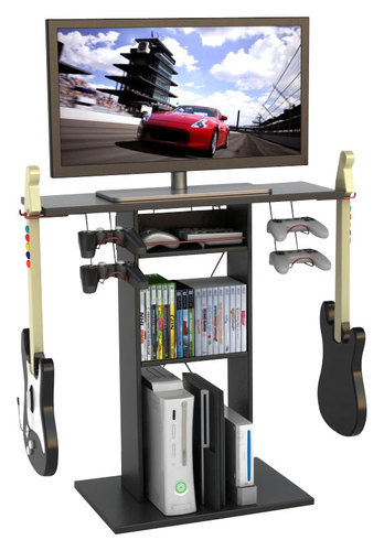 Atlantic - Game Central TV Stand for Flat-Panel TVs Up to 32 - Black