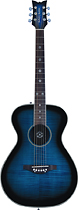 Daisy Rock - Pixie 6-String Full-Size Concert Acoustic/Electric Guitar - Blueberry Burst