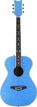 Daisy Rock - Pixie 6-String Full-Size Concert Acoustic Guitar - Blue Sparkle
