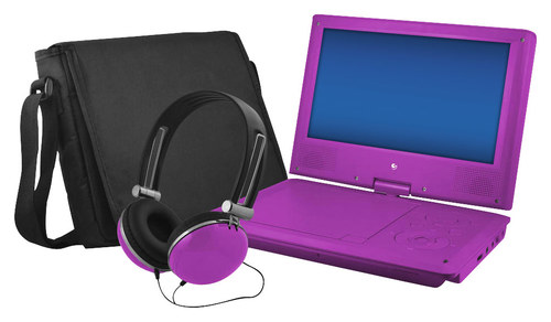 Ematic - 9 Portable DVD Player with Swivel Screen - Purple