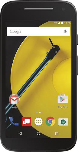 Verizon Wireless Prepaid - Motorola Moto E 4G with 8GB Memory No-Contract Cell Phone - Black