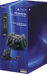 Playstation 3 DualShock 3 Charging Station and Blu-ray Remote Control Bundle (PS3) $24.99