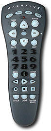 Magnavox - Universal Remote - Charcoal