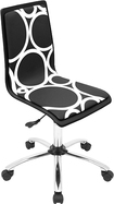 LumiSource - Printed Circles Wood Office Chair - Black