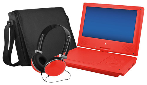 Ematic - 9 Portable DVD Player with Swivel Screen - Red