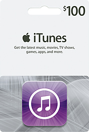 $100 Apple iTunes Gift Card or Code $80