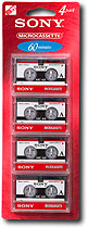 Sony 60-Minute Microcassettes (4-pack)