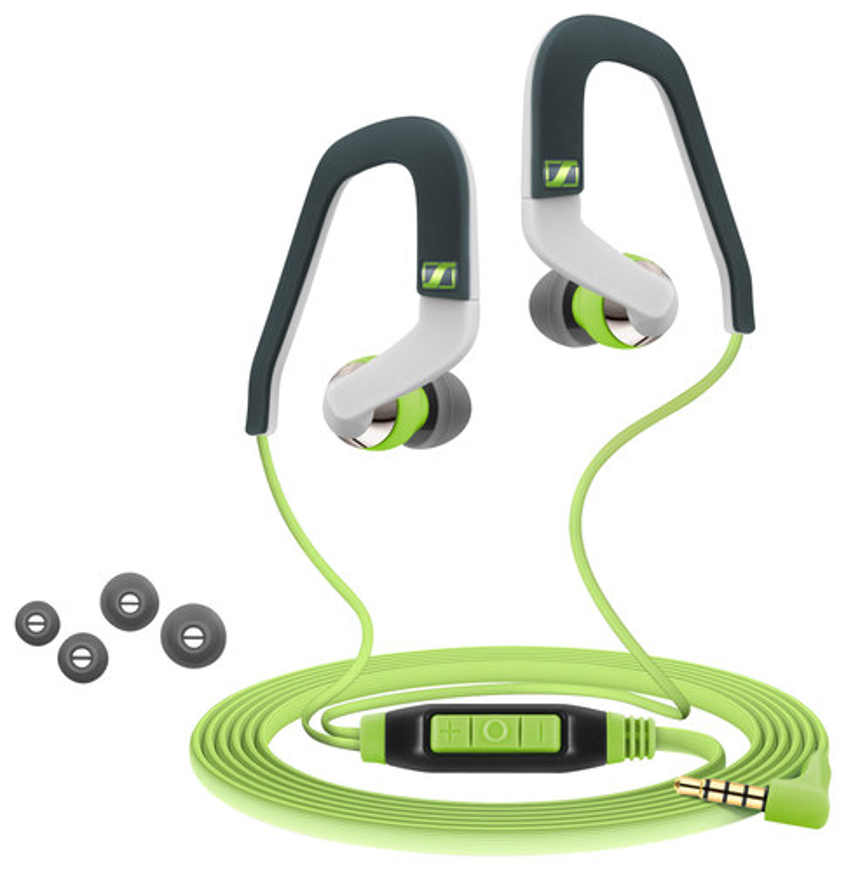 Sennheiser - Sport Earbud Headphones - Green/White