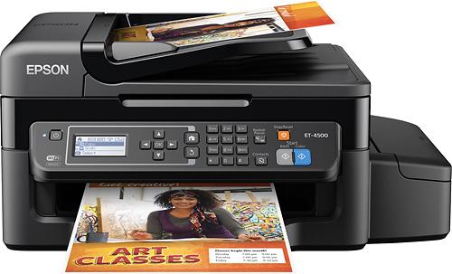 Epson - WorkForce ET-4500 EcoTank Wireless All-In-One Printer - Black