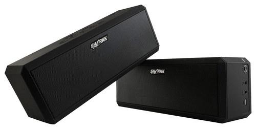 Sharkk - Portable Bluetooth Buddy Speakers (2-Piece) - Black
