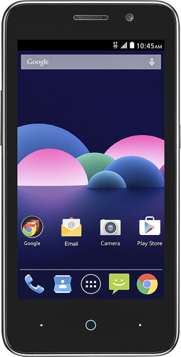 T-Mobile Prepaid - ZTE Obsidian 4G LTE with 8GB Memory No-Contract Cell Phone - Charcoal Gray