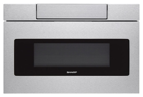 Sharp - 1.2 Cu. Ft. Built-In Microwave Drawer - Stainless Steel (Silver)