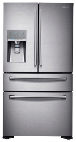 Samsung - 22.6 Cu. Ft. Counter-Depth Refrigerator with Sparkling Water - Stainless Steel (Silver)