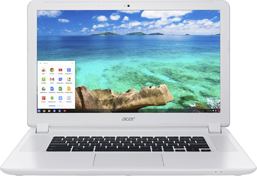 Acer - 15.6 Chromebook - Intel Celeron - 4GB Memory - 16GB Solid State Drive - Linen White