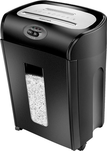 Insignia™ - 10-Sheet Microcut Shredder - Black