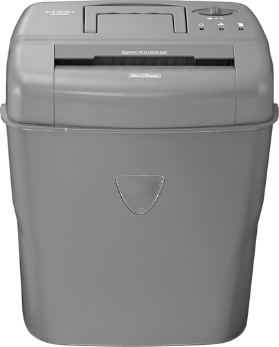 Insignia™ - 10-Sheet Crosscut Shredder - Gray
