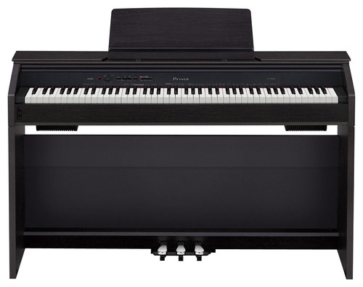 Casio - Privia Digital Piano with 88 Velocity-Sensitive Keys - Black