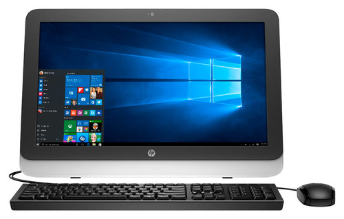 HP - 21.5 All-in-One - AMD E1-Series - 4GB Memory - 1TB Hard Drive - Natural Silver