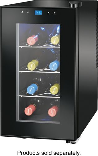Insignia™ - 8-Bottle Wine Cooler with Wine Tote - Black