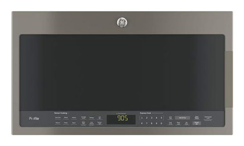 GE - Profile Series 2.1 Cu. Ft. Over-the-Range Microwave with Sensor Cooking - Slate (Grey)