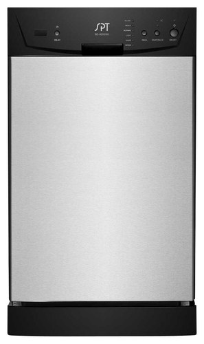 SPT - 18 Front Control Built-In Dishwasher with Stainless Steel (Silver) Tub - Stainless Steel