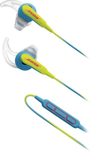 Bose® - SoundSport® In-Ear Headphones (iOS) - Neon Blue