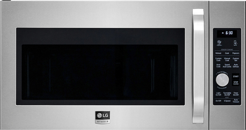 LG - Studio 1.7 Cu. Ft. Convection Over-the-Range Microwave with Sensor Cooking - Stainless Steel (Silver)