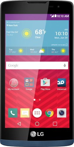 Virgin Mobile - LG Tribute 2 with 8GB Memory No-Contract Cell Phone - Blue