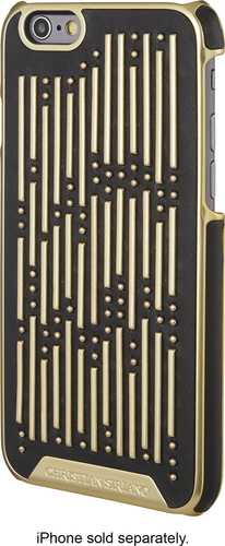 Christian Siriano - Hard Shell Case for Apple® iPhone® 6 and 6s - Black/Gold