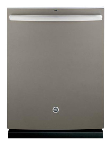 GE - 24 Top Control Tall Tub Built-In Dishwasher with Stainless Steel Tub - Slate (Grey)