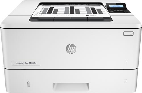 HP - LaserJet Pro m402n Black-and-White Printer - Gray