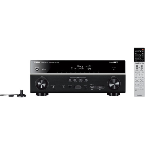 Yamaha - 7.2-Ch. Network-Ready 4K Ultra HD and 3D Pass-Through A/V Home Theater Receiver - Black