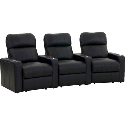 Octane Seating - Turbo XL700 3-Seat Curved Power Recline Home Theater Seating - Black