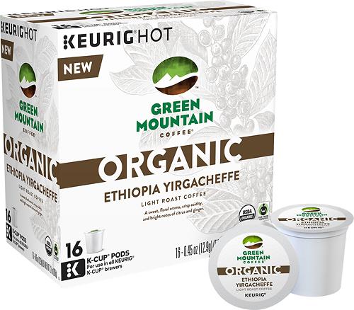 Keurig - Green Mountain Coffee Organic Ethiopia Yirgacheffe K-Cups (16-Pack) - Multi